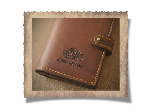 Elliot License Holder (16), leather products, logo, initials, embossing, yellow stitching, handcrafted
