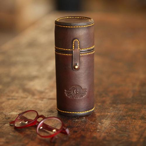 glasses, leather case, spectacles, handmade