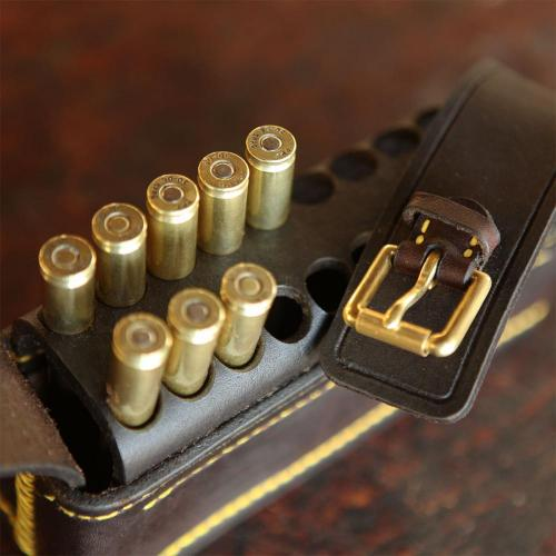cartridges, cartridge pouch, leather pouch, brass buckles, hunting