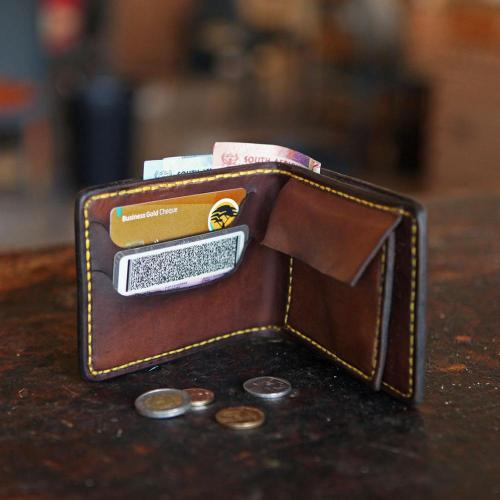 leather wallet, coins, cards, wallet, cash