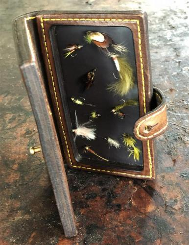leather fly wallet, leather