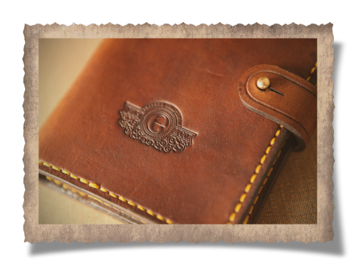 leather pouch, journal