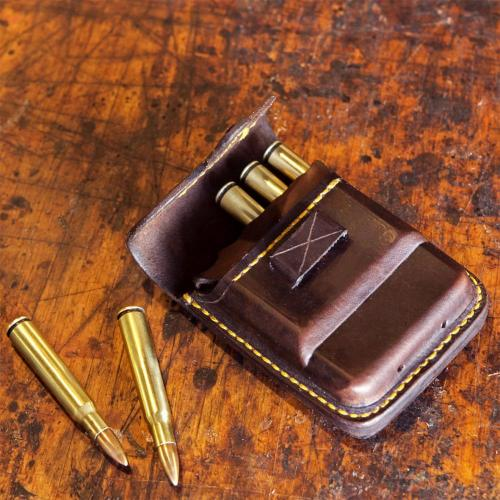 cartridge pouch, leather, hunting accessories